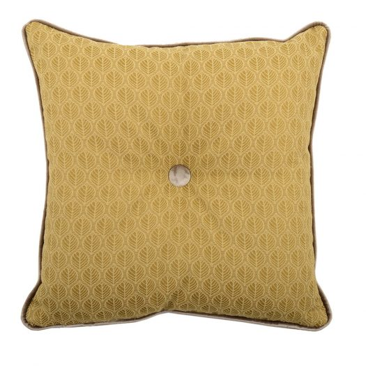 Carre Gold Tufted Pillow by L'Opificio