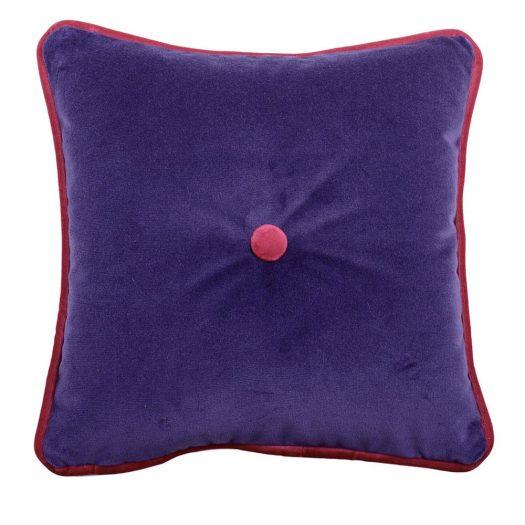 Carre Purple Tufted Pillow by L'Opificio