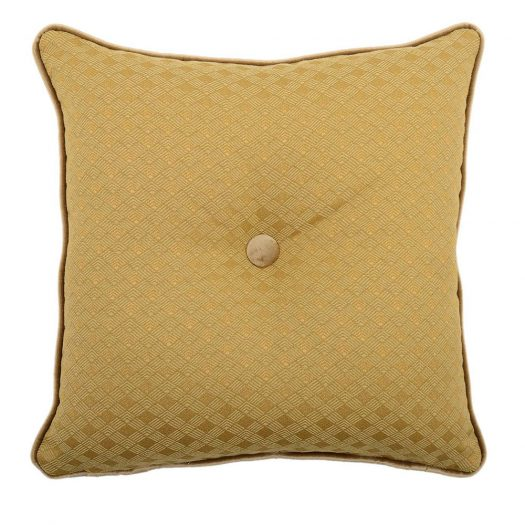 Carre Gold and Ochre Tufted Pillow by L'Opificio
