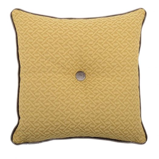 Carre Gold and Grey Tufted Pillow by L'Opificio