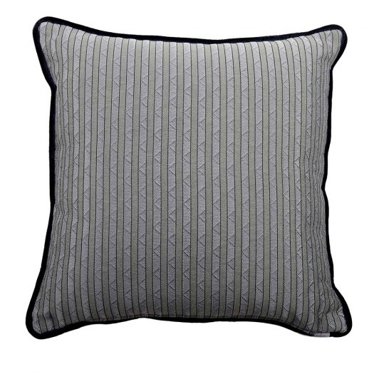 Carre Grey with Stripes Pillow by L'Opificio