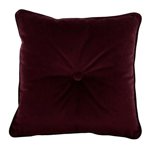 Carre Tufted Burgundy Pillow by L'Opificio