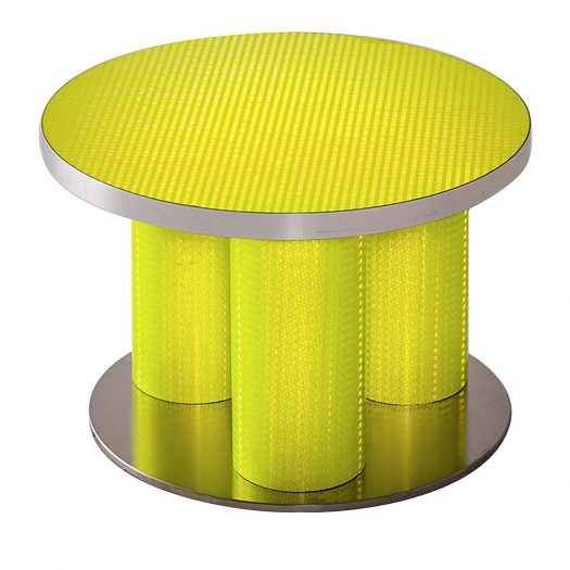 Reflective Collection - Yellow round coffee table by Sebastiano Bottos