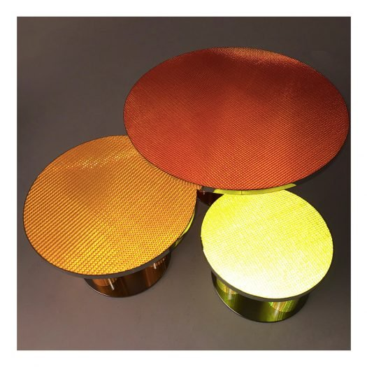 Reflective Collection – Yellow round coffee table by Sebastiano Bottos