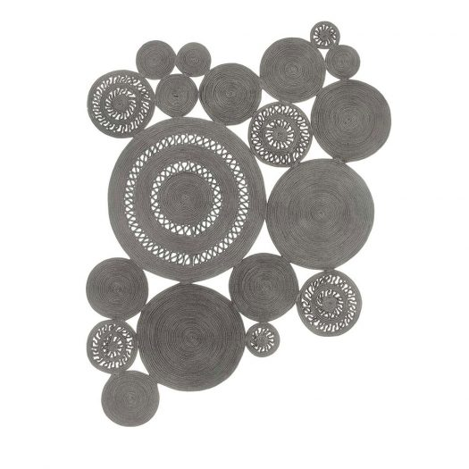 Silver Alyssa Patchwork Rug by Sitap Carpet Couture Italia