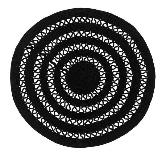 Black Alyssa 1B Rug by Sitap Carpet Couture Italia