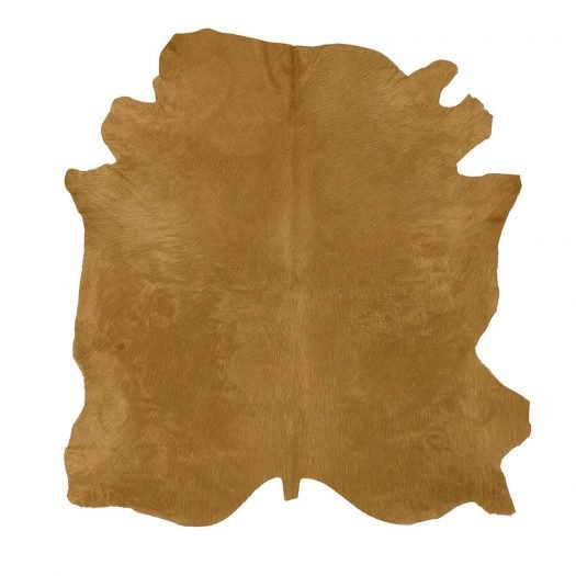 Natural Tanner Champagne Colored Leather Rug by Sitap Carpet Couture Italia