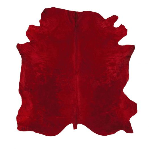 Natural Tanner Red Colored Leather Rug by Sitap Carpet Couture Italia