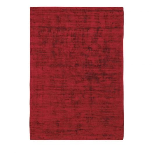 Trendy Shiny Rug Rouge by Sitap Carpet Couture Italia