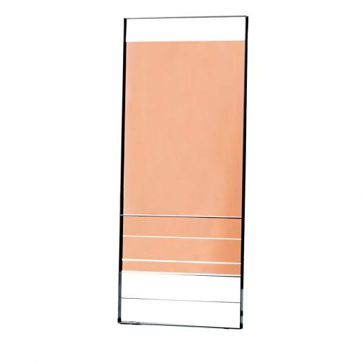 Pink Rectangular Visual Mirror by Sovet Italia