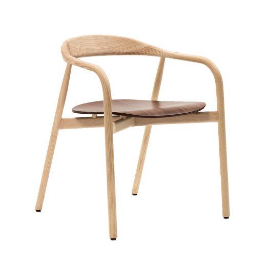 Autumn Armchair with Walnut Seat by Sovet Italia