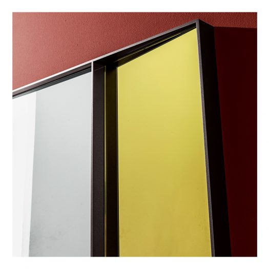 Campos Vertical Mirror in Extralight and Gold  by Sovet Italia