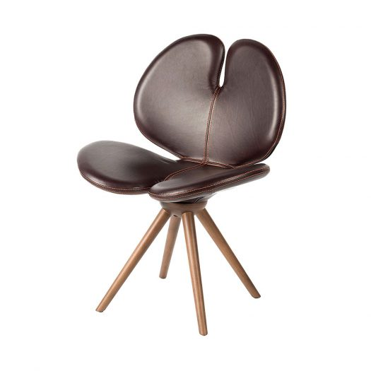 New Pans Leather and Wood Chair by VGnewtrend