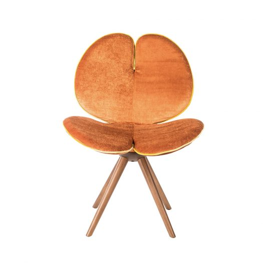 New Pans Leather and Fabric Chair by VGnewtrend