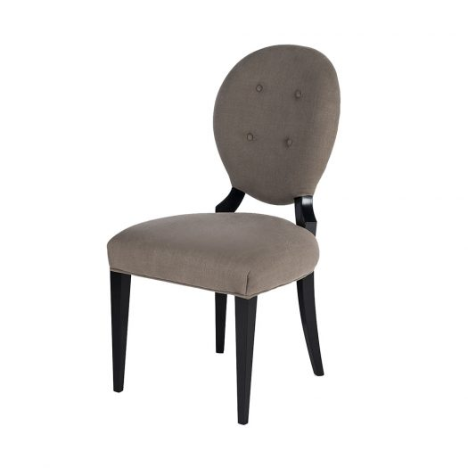 Sophia Wood and Fabric Chairs Set of 2  by VGnewtrend