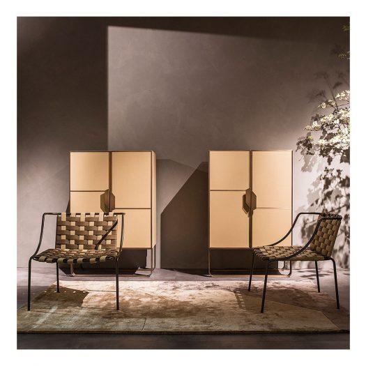 Sunrise Small Leather Armchair by Zanaboni Edizioni
