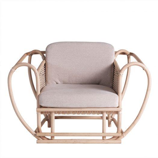 Green Channel Armchair with White Frame by Zanaboni Edizioni