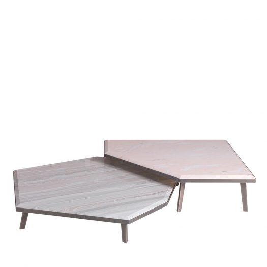 Expanding Set of 2 Side Tables by Zanaboni Edizioni