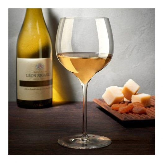 Dimple Set of 2 Rich White Wine Glasses