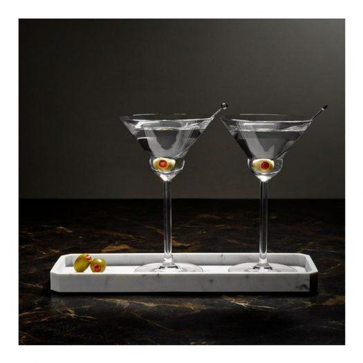 Vintage Set of 2 Martini Glasses Rounded