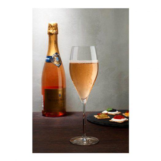 Vintage Set of 2 Champagne Glasses Rounded
