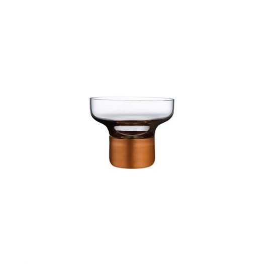 ContourBowl High Foot with Clear Top and Copper Base