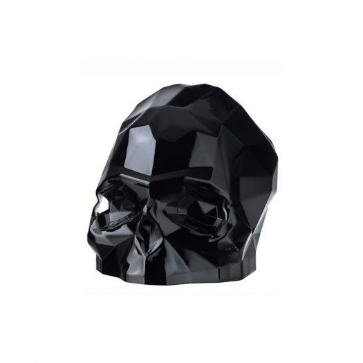 Memento Mori Faceted Skull Black Large