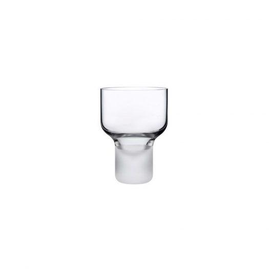 ContourSet of 2 Wine Glasses with Sandblasted Base