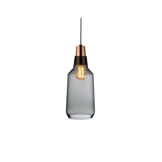 Mono Lamp Smoke with Copper Socket Tall