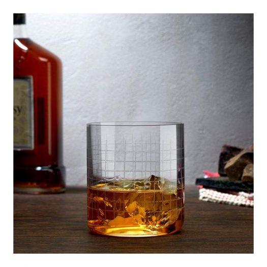 Finesse Grid Set of 4 Whisky DOF Glasses