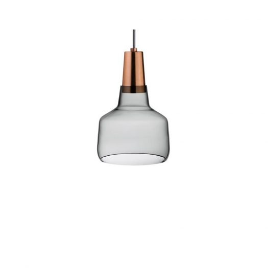 Mono Lamp Smoke with Copper Socket Small