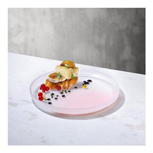Pigmento Serving Dish 22 cm Pink Sprayed