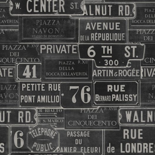 VINTAGE SIGNS ANTHRACITE
