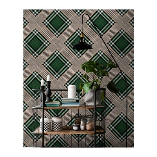 CHECKERED PATCHWORK British Green