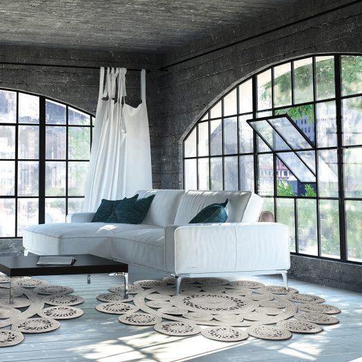 Silver Alyssa 2B Rug by Sitap Carpet Couture Italia