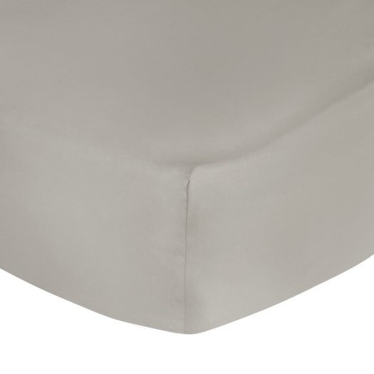 500 Thread Count Sateen Fitted Sheet - Taupe - Super King