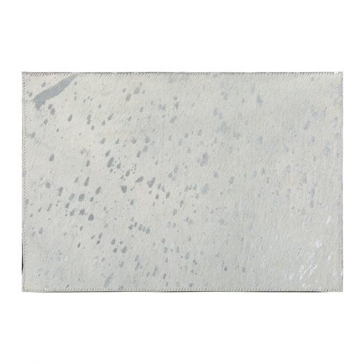 Metallic Acid Cowhide Placemats - Set of 2 - Silver