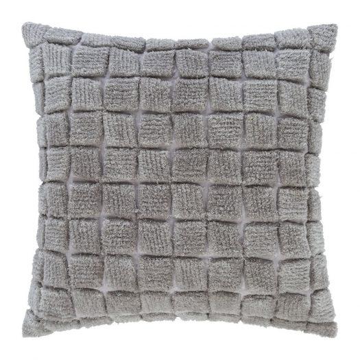 Square Textured Cushion - 50x50cm - Grey