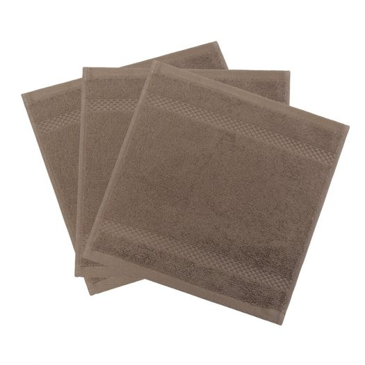 Egyptian Cotton Towel - Funghi - Face Cloths - Set of 3