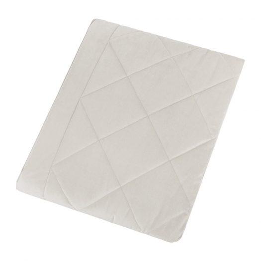 Diamond Velvet Bedspread - Beige - 140x200cm