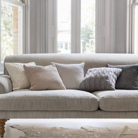 Cable Knit Cushion – 45x45cm – Dark Grey