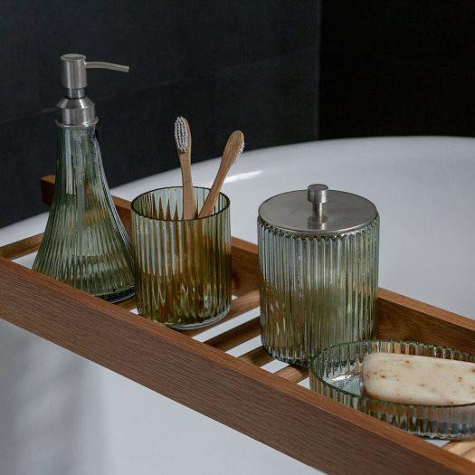 Ridged Glass Soap Dish
