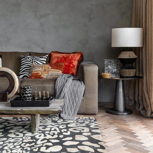 Zebra Beaded Cushion – 45x45cm