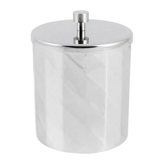 Nickel Textured Storage Pot