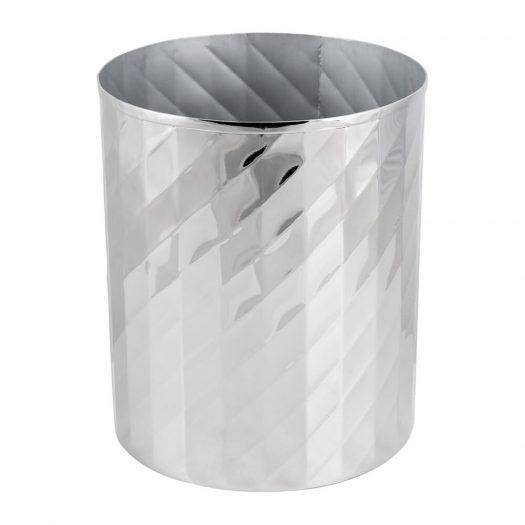 Nickel Textured Waste Bin