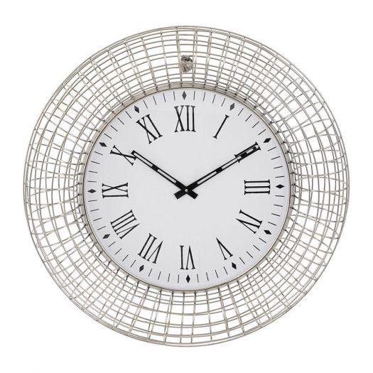 Industrial Wall Clock - Silver