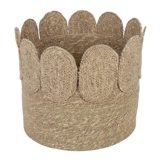 Scallop Edge Seagrass Storage Basket