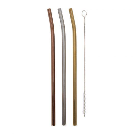Metal Straws & Brush Set