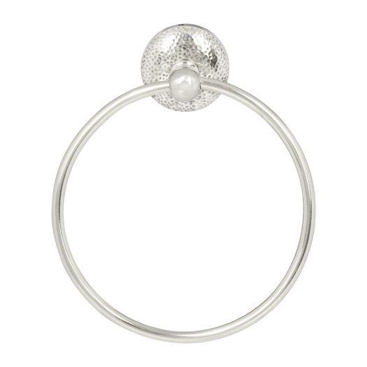 Mottled Towel Ring - Silver