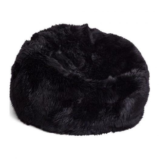 New Zealand Sheepskin Bean Bag - Black